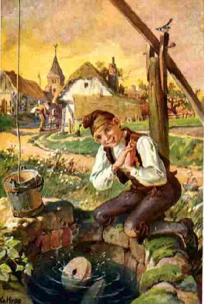 Zeichung aus der Geschichte Hans im Glück