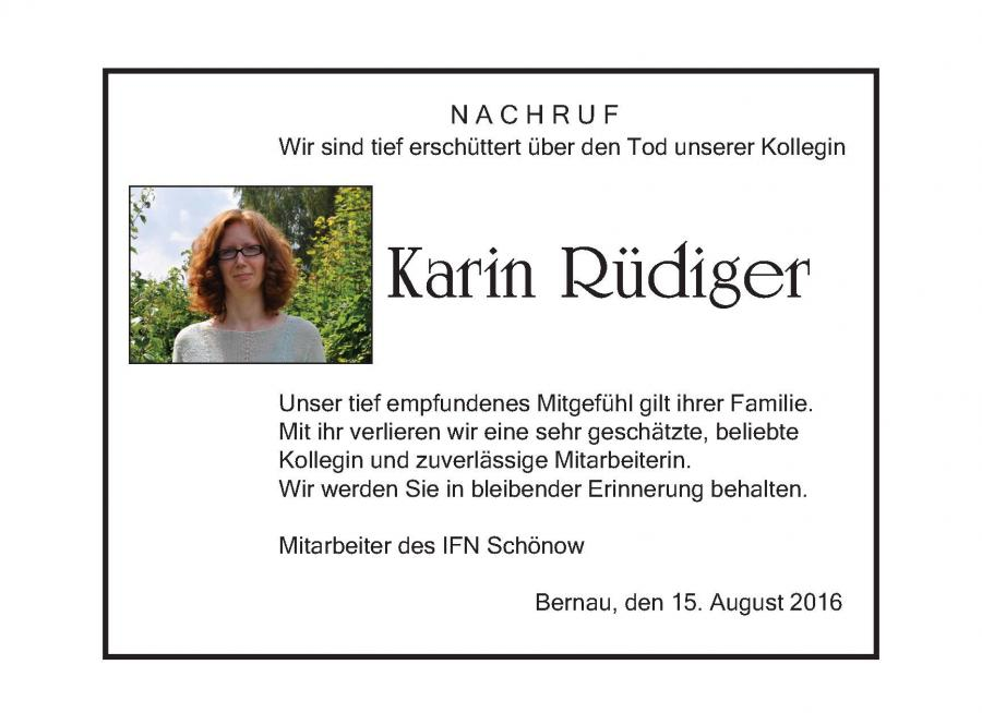 Nachruf Karin