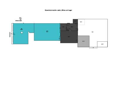 Gewerbeimmobilie Ladengeschäft optional Lager, Büroraum 03/2017