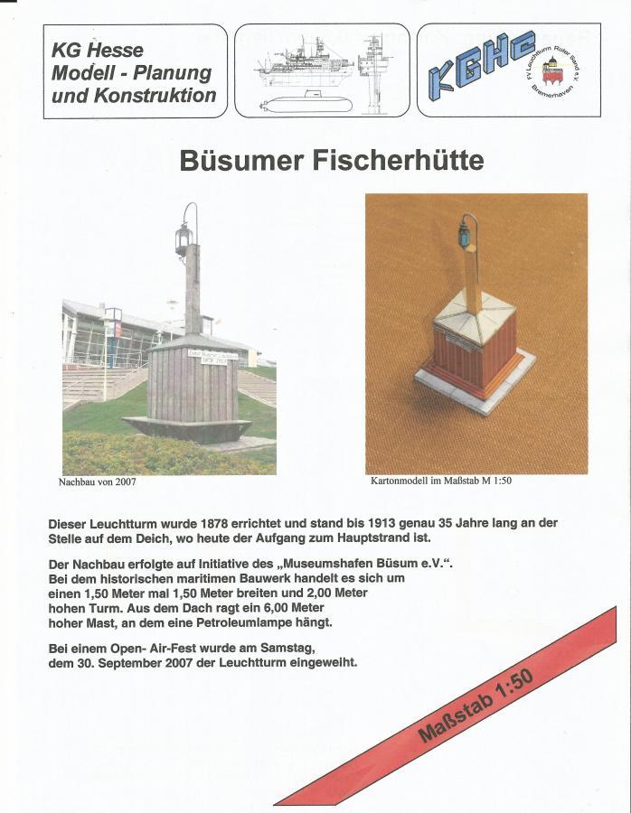 Fischerhütte Büsum 1:50