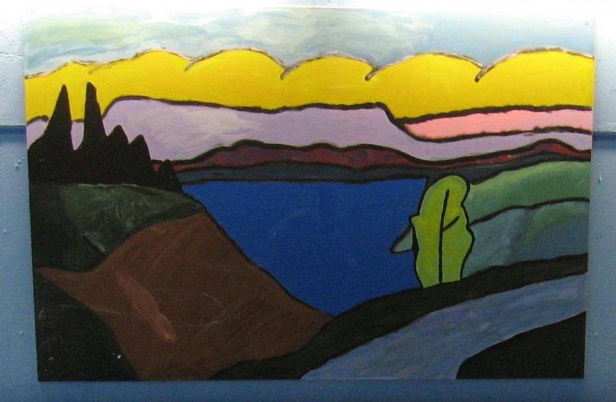 Gabriele Münter, Der blaue See