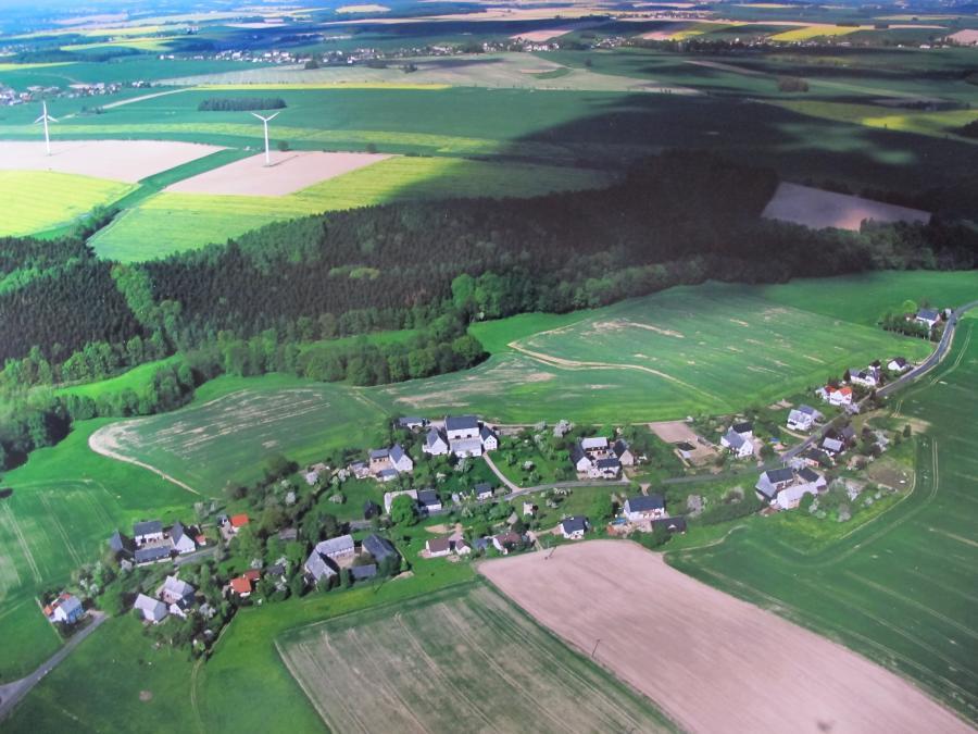 Luftbild von Erlebach