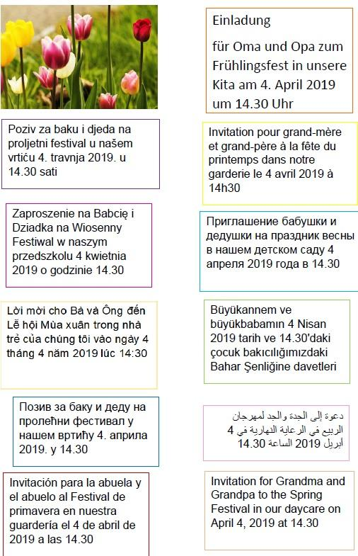 2019 Frühlingsfest div. Sprachen