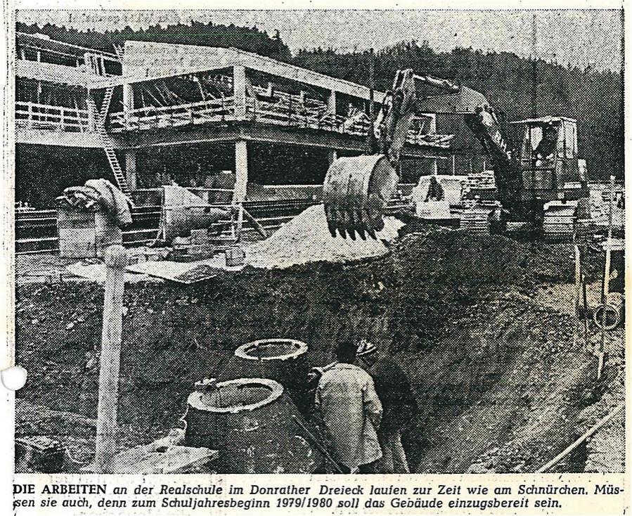 Bauarbeiten Realschule Lohmar