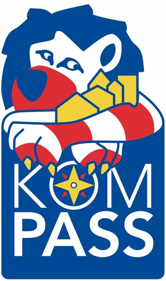 Link zu Prävention und Sicherheit; Bild zeigt das Logo vom Projekt Kompass