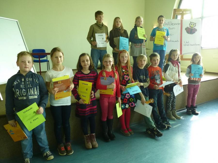 Gewinner des Lesewettbewerbs der Grundschule Ziesar im Jahre 2015