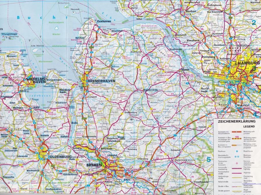 Karte der Region