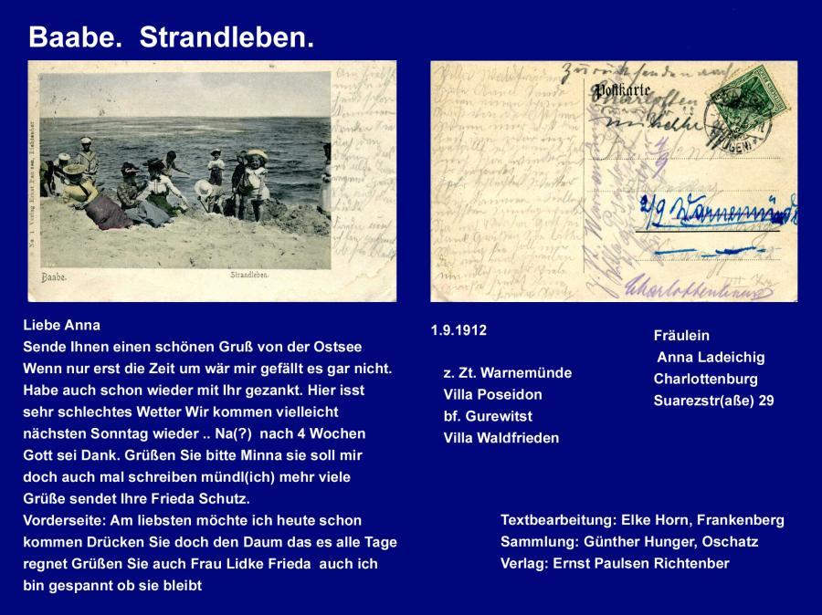 Baabe Strandleben