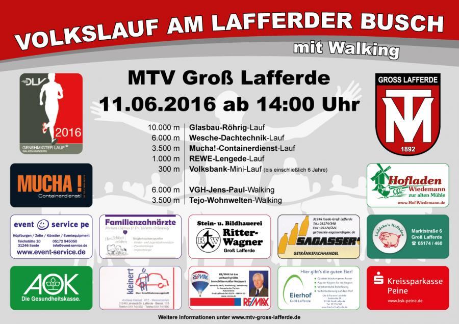 Plakat Volkslauf 2016
