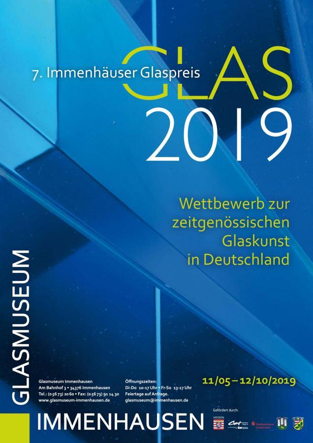 Plakat: Glas 2019 - 7. Immenhäuser Glaspreis