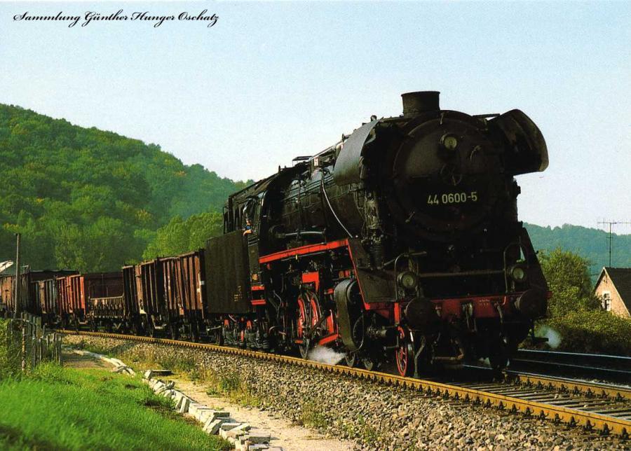 DR Güterzug -Dampflokomotive bei Camburg