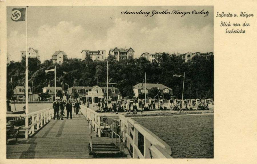 Saßnitz a. Rügen Blick von der Seebrücke