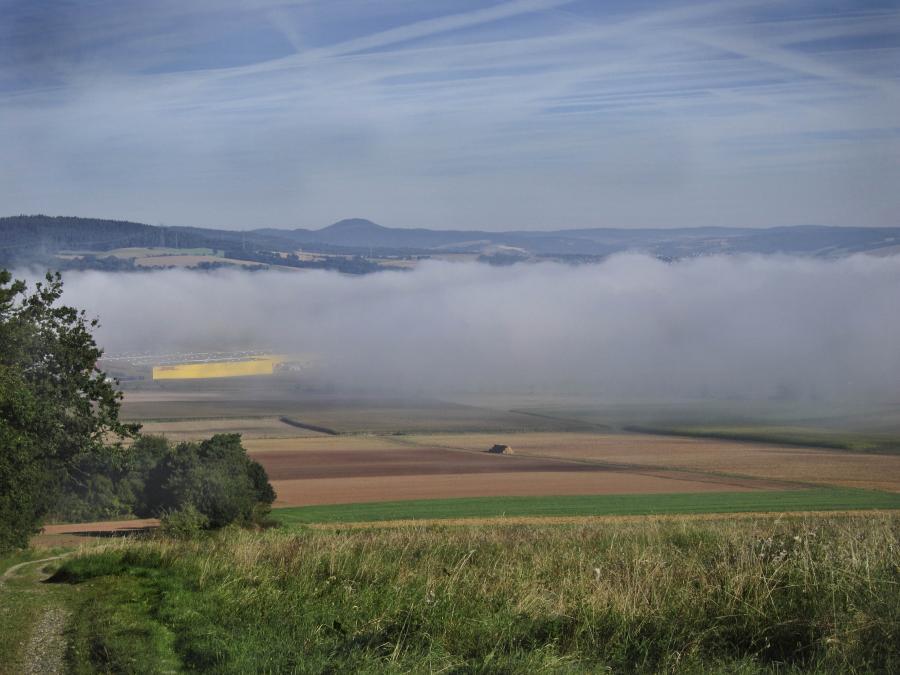 Nebel überm Fuldatal