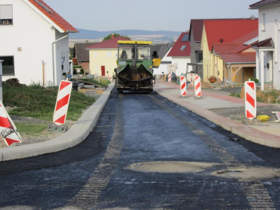 "Foto: Erschließung des 4. Abschnittes des Baugebietes ""Frettholz"""