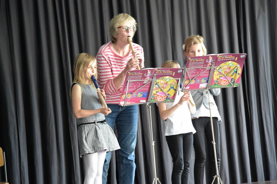 Flötengruppe Frau Bode