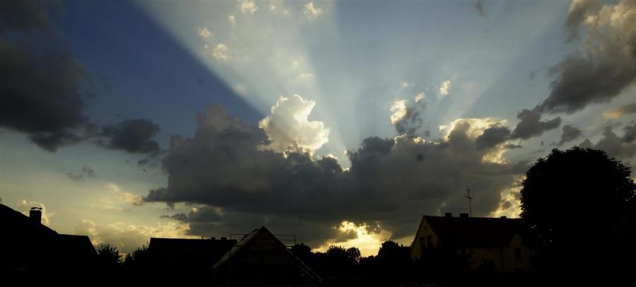 Regenwolke über Sieversdorf