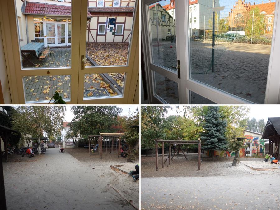 Innenhof + Fußballplatz + großer Hof