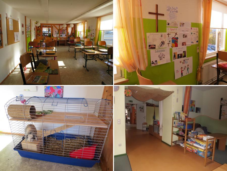 Klassenraum + Hasi + Hort