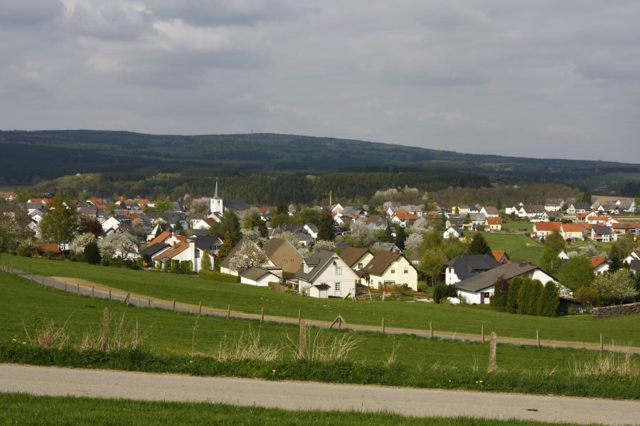 Blick über den Ort aus Nordwest