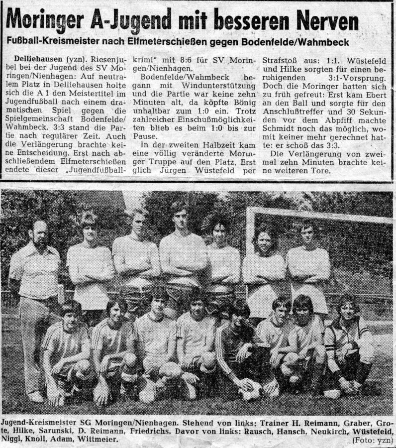 A-Jugend 1978 - 1979