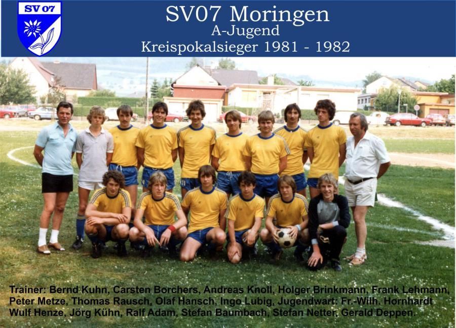 A-Jugend 1981 - 1982