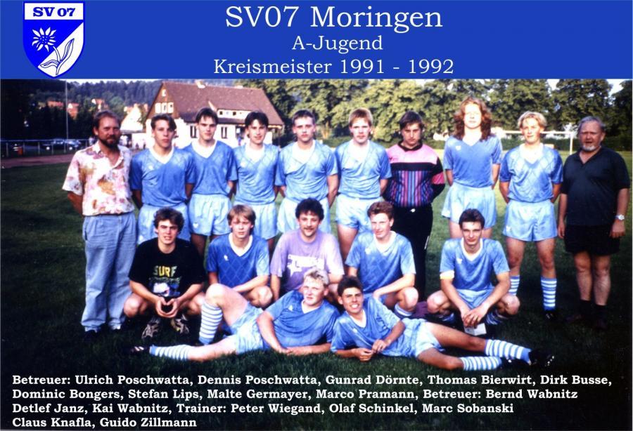 A-Jugend 1991 - 1992