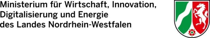 Ministerium für Wirtschaft, Innovation, Degitalisierung und Energie des Landes Nordrhein-Westfalen - Logo