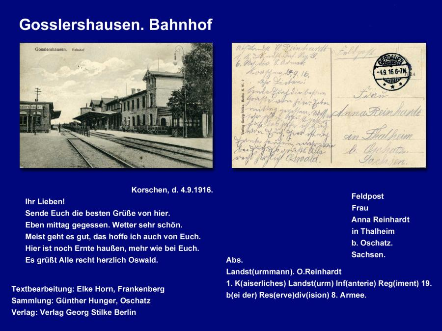Gosslershausen Bahnhof