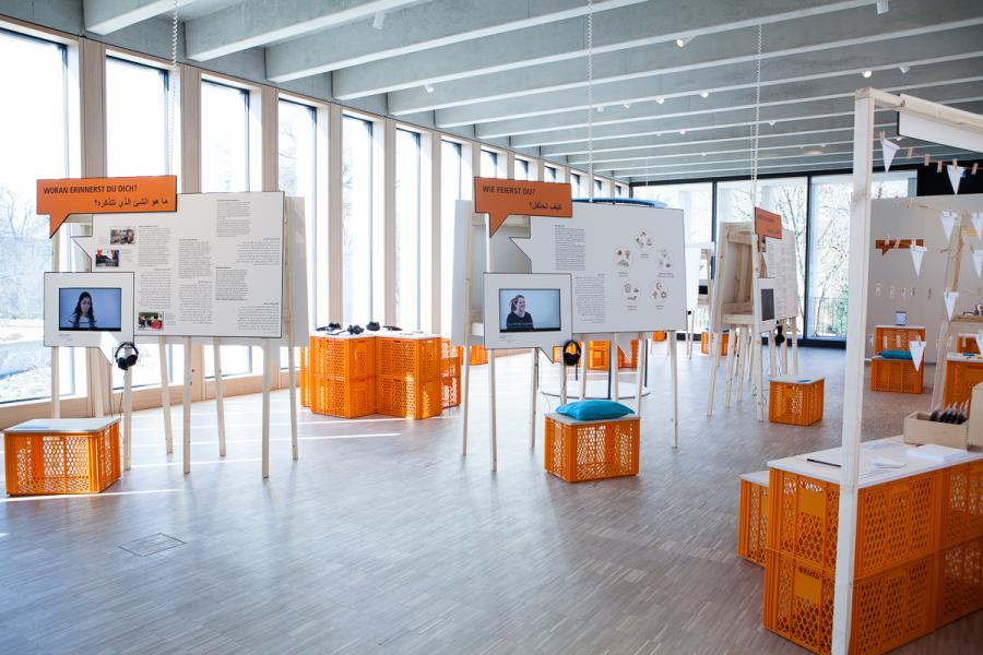 Blick in die Ausstellung GESTERN_HEUTE_MORGEN. Stadtdialog Neuruppin
