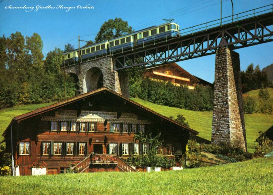 Schweiz Viadukt Gstaad