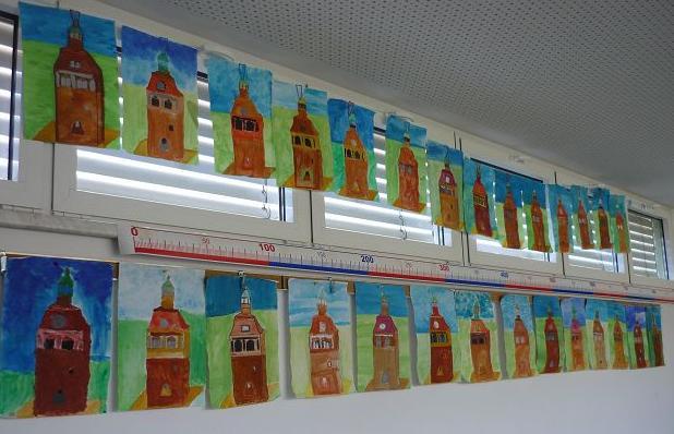 Markttürme - gemalt von den Kindern der 3b