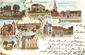 Postkarte_Stadtansicht Senftenberg