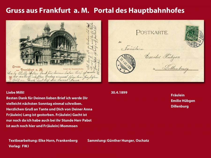Gruss aus Frankfurt A. M.