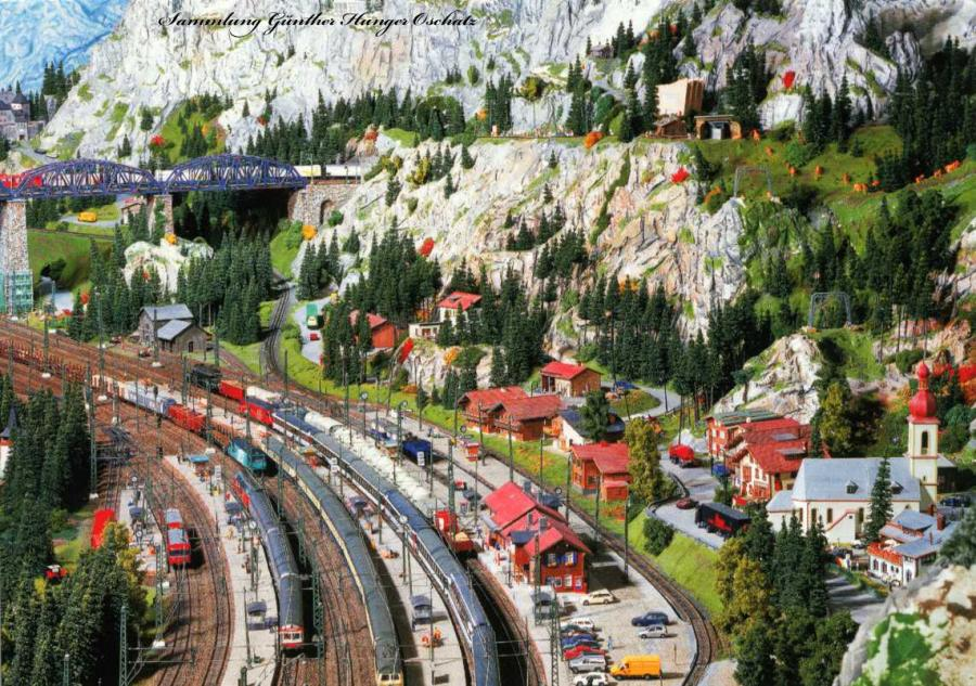 Modelleisenbahn Bahnhof in St. Wendel
