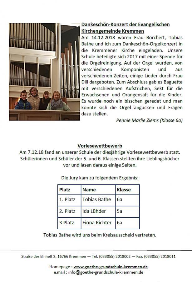 Schulnachrichten Winter 18/3