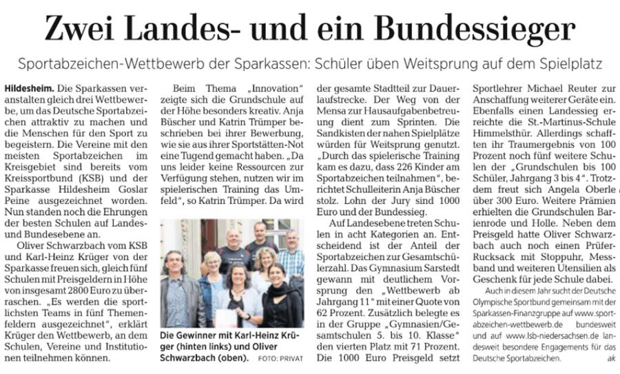 Bundespreis Innovation Deutsches Sportabzeichen 2019
