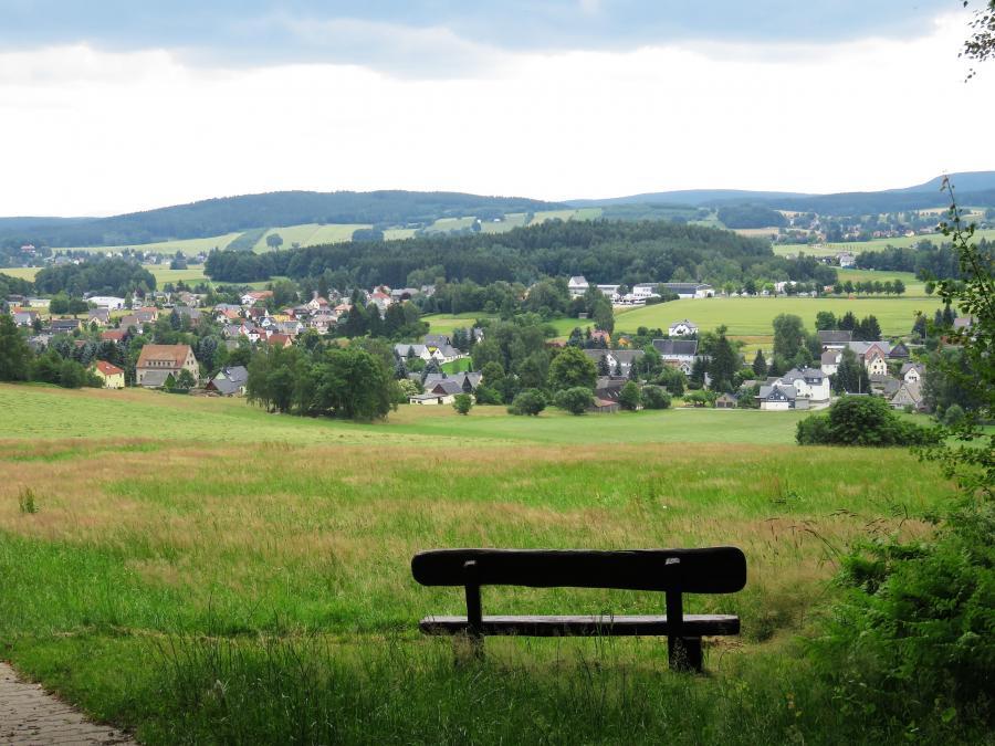 Blick nach Wehrsdorf