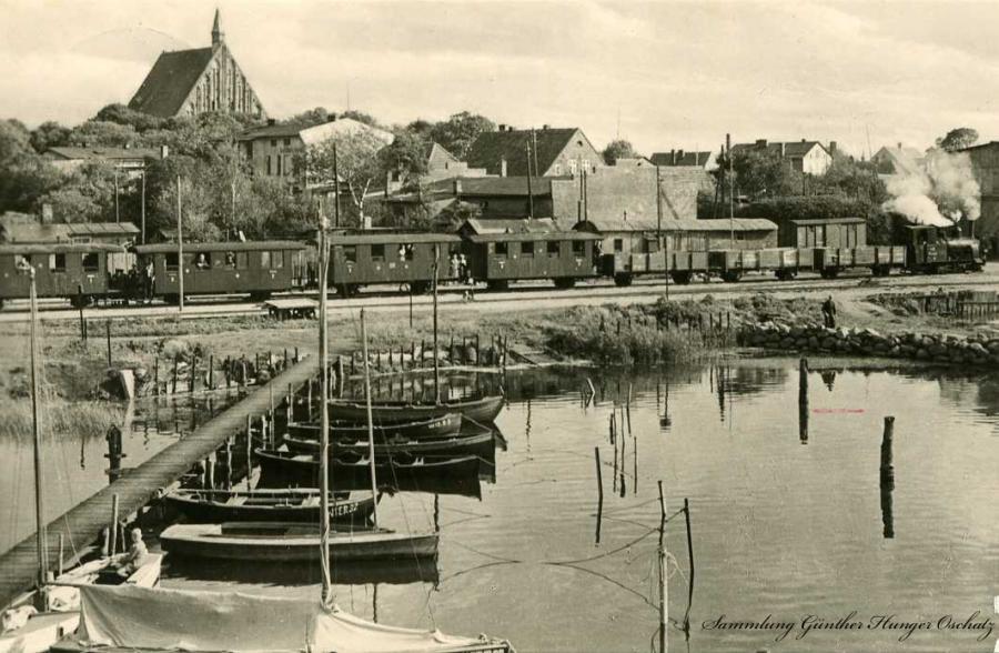 Wiek Blick von der Kreidebrücke 1963