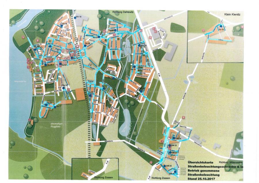 © Gemeinde Rangsdorf - Karte Stand 25.10.2017