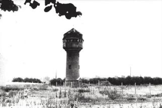 (Das Foto zeigt den Wasserturm der Gemeinde Merkstein – ca. 1956)