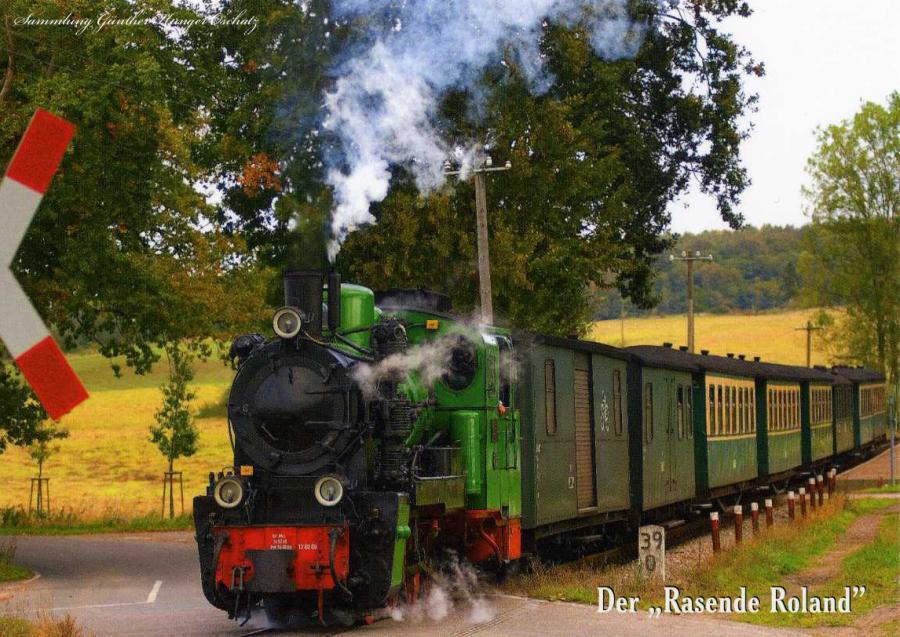 """Rügens historische Schmalspurbahn der """"Rasende Roland """""""