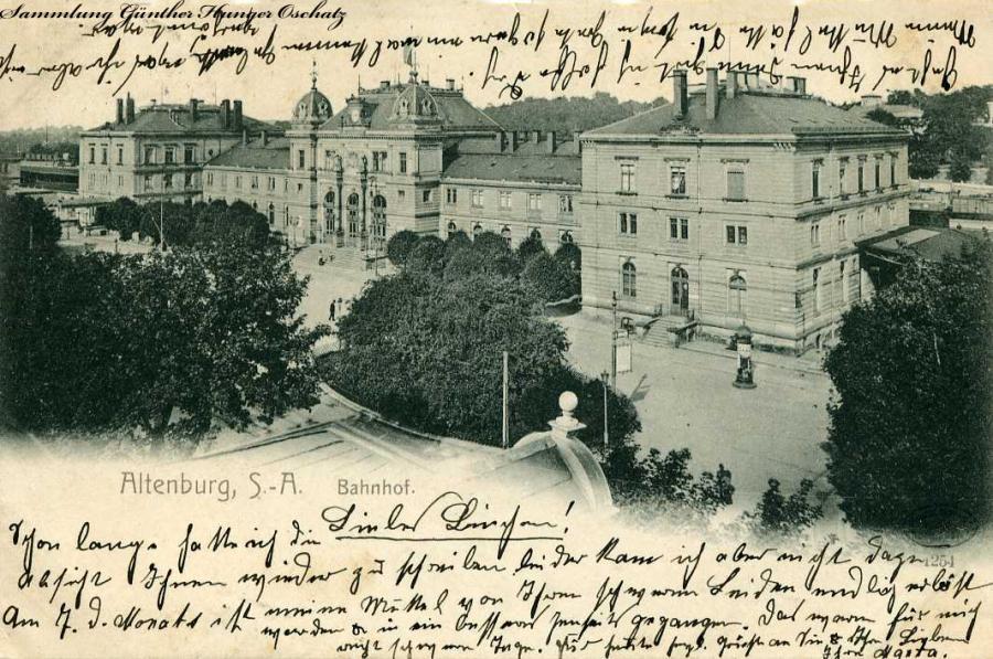 Altenburg Bahnhof 1905