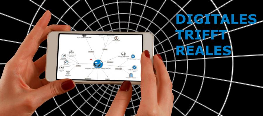 Netzwerkfreund Net Digitales Trifft Reales