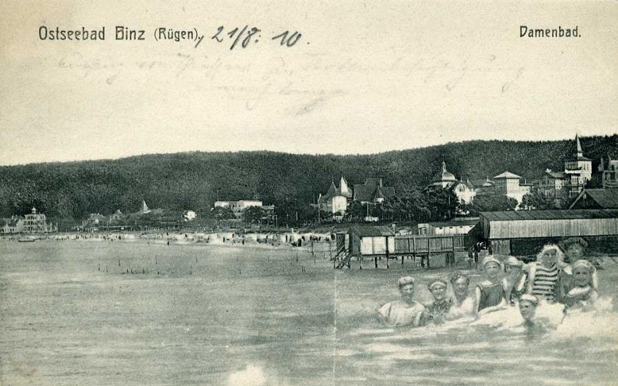 Ostseebad Binz Rügen  Damenbad 1910
