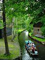 A tourist boat on a Spreewald canal in Lübbenau-Lehde