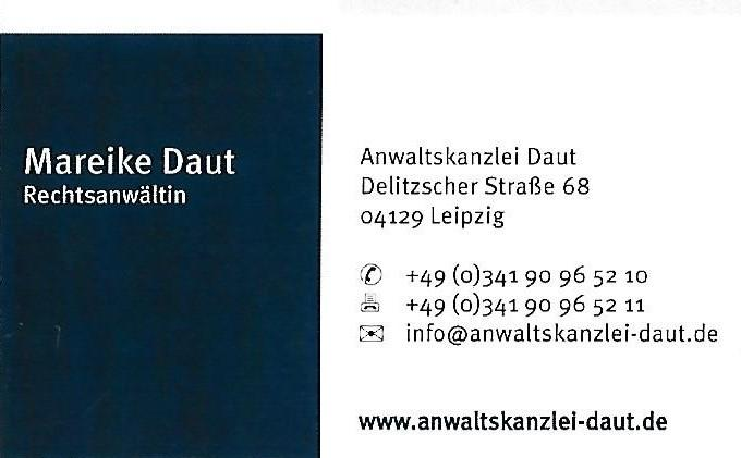 Visitenkarte M. Daut