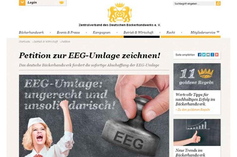 Abb. 1 Petition zur EEG-Umlage