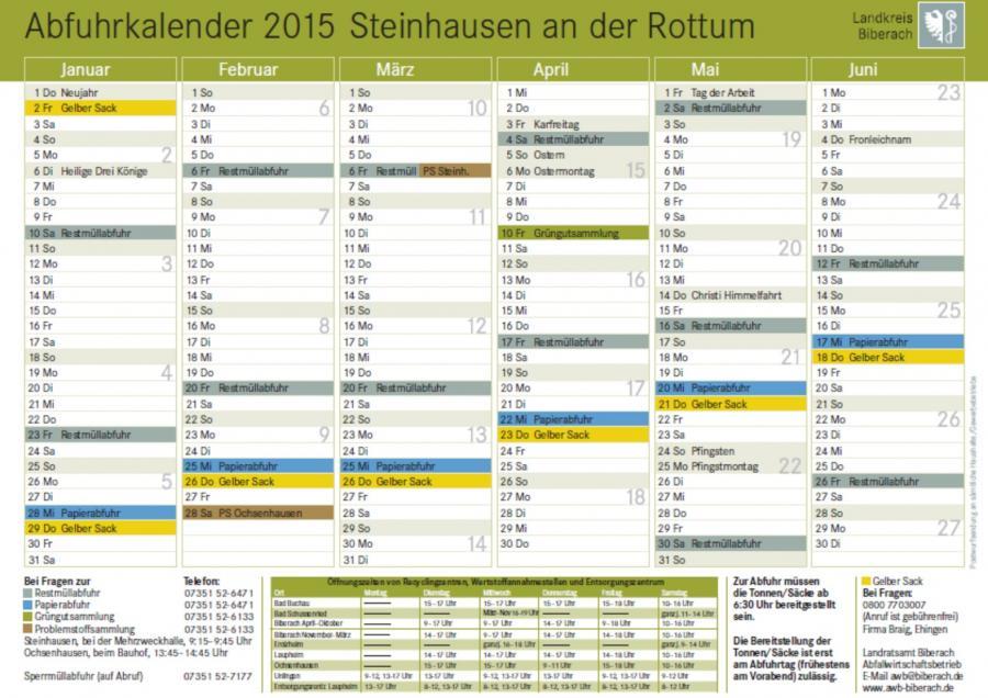 Abfuhrkalender 2015