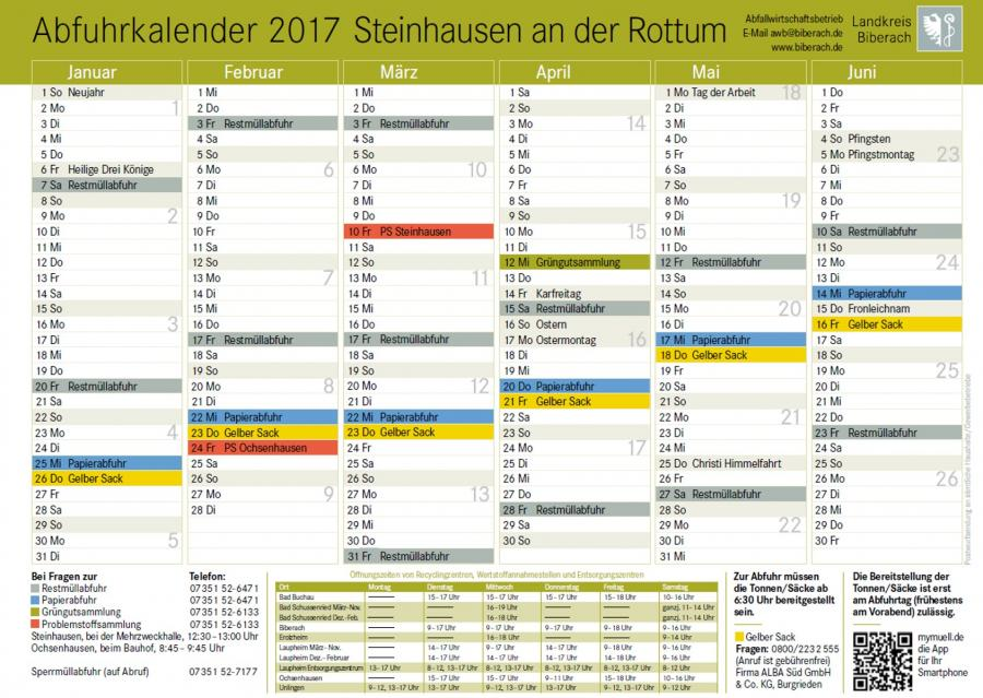 Abfuhrplan 2017