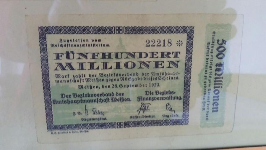 Geldschein von 1923